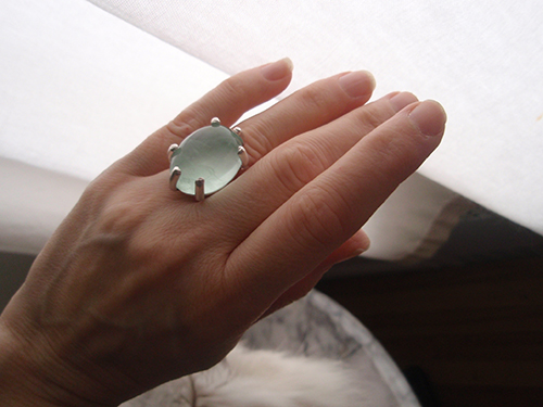 Aquamarine Ides of March ring