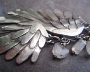 AJB blackbird necklace close up