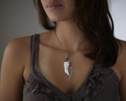 AJB blackbird necklace on
