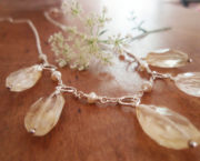 AJB faceted rough citrine necklace 1