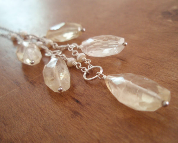 AJB faceted rough citrine necklace 2