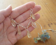 AJB faceted rough citrine necklace in hand