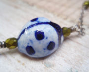 AJB long ladybug strand close up