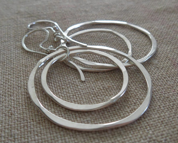AJB concentric double hoop earrings 3
