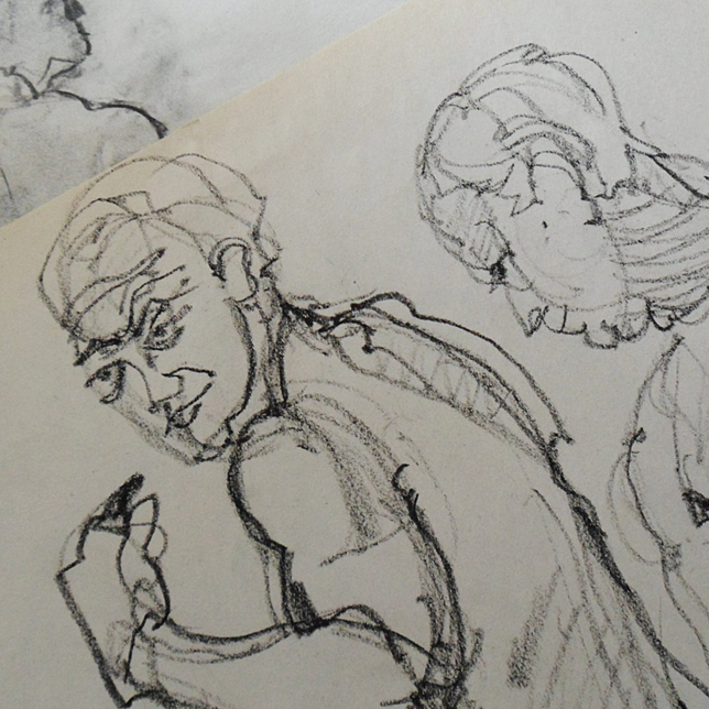 Class sketches, spring
