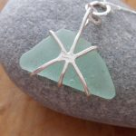 sea glass chunk pendant back